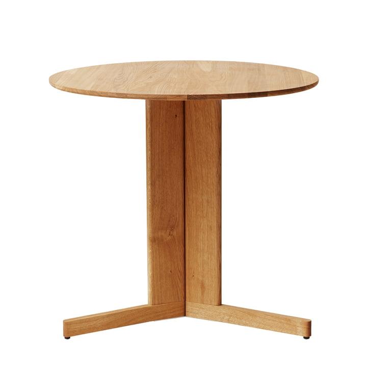 Trefoil Table, Ø 75 cm, oak from Form & Refine