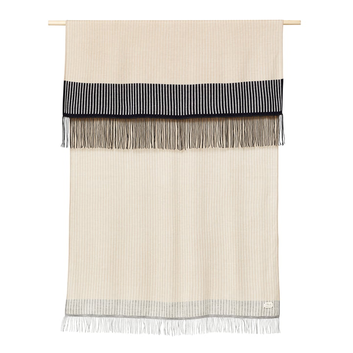 Aymara Blanket, 130 x 190 cm, patterned with stripes, cream from Form & Refine