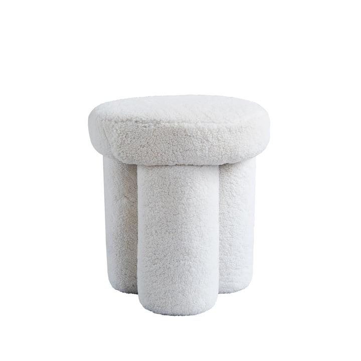 The Big Foot stool from 101 Copenhagen, sheepskin
