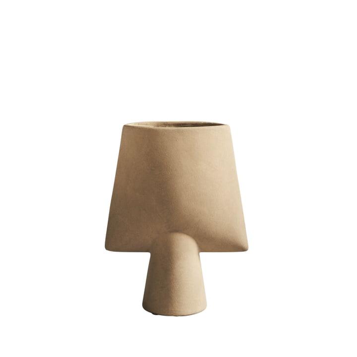 The Sphere Vase Square Mini from 101 Copenhagen, sand / beige
