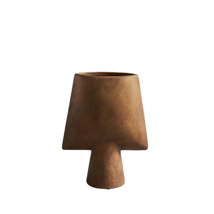 The Sphere Vase Square Mini from 101 Copenhagen, ocher