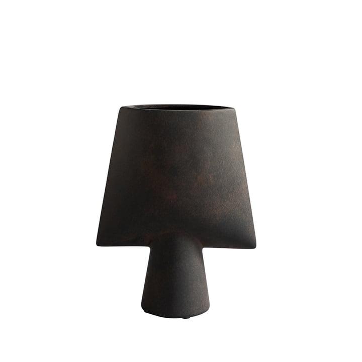 The Sphere Vase Square Mini from 101 Copenhagen, coffee / dark brown