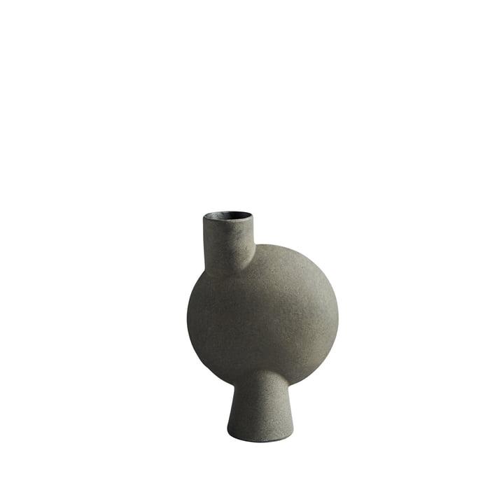 The Sphere Vase Bubl Medio from 101 Copenhagen, dark grey