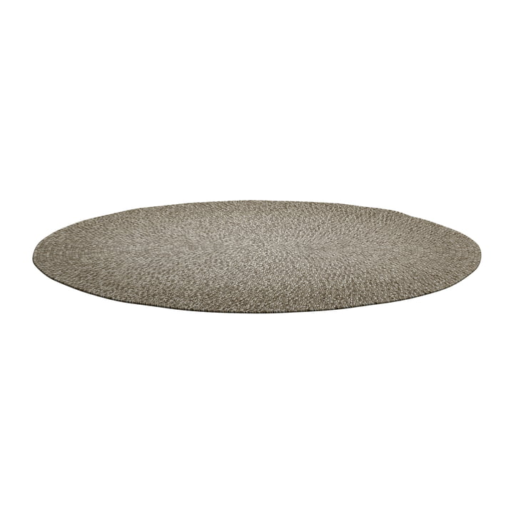 The Deco carpet Outdoor from Gloster , Ø 140 cm, hazel ombre