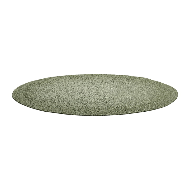 The Deco carpet Outdoor from Gloster , Ø 140 cm, moss ombre