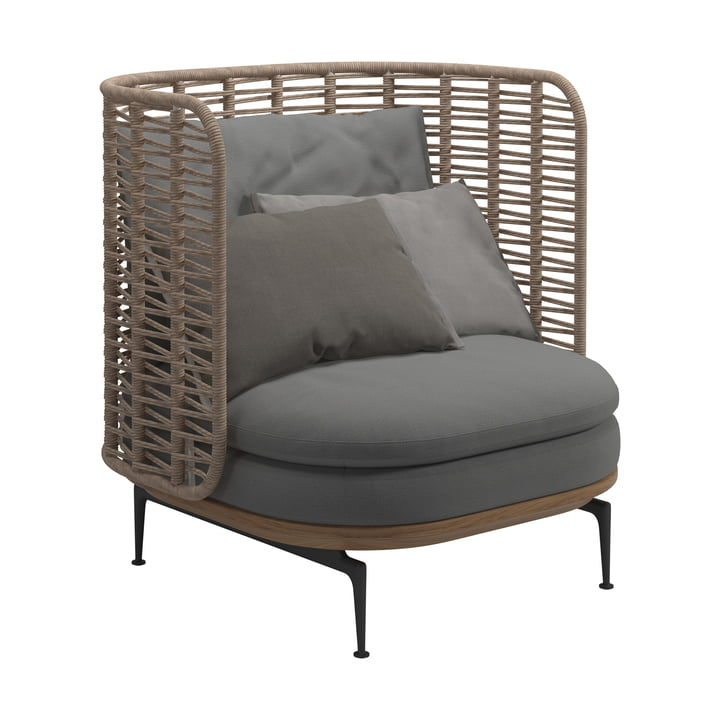 The Mistral lounge chair from Gloster in grey