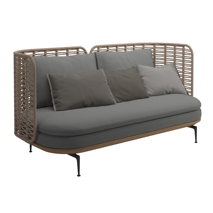 The Mistral sofa from Gloster in grey
