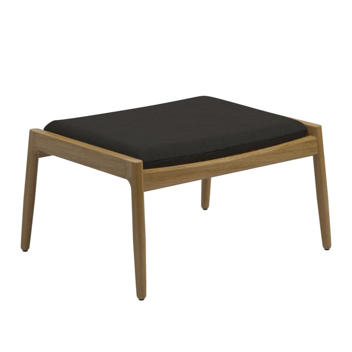 The Archi Ottoman from Gloster , teak / black