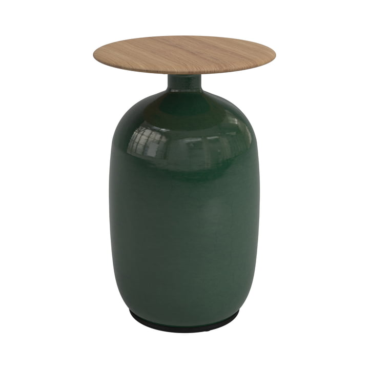The Blow side table high from Gloster , Ø 36 x H 52,5 cm, emerald green