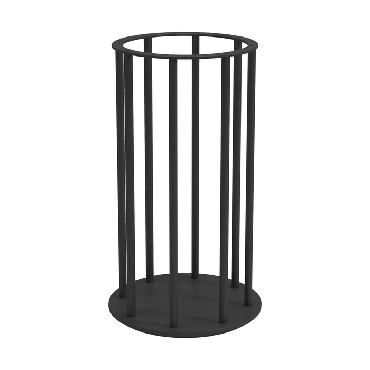 The Ambient Line Tall Glass Lantern Base of Gloster , black