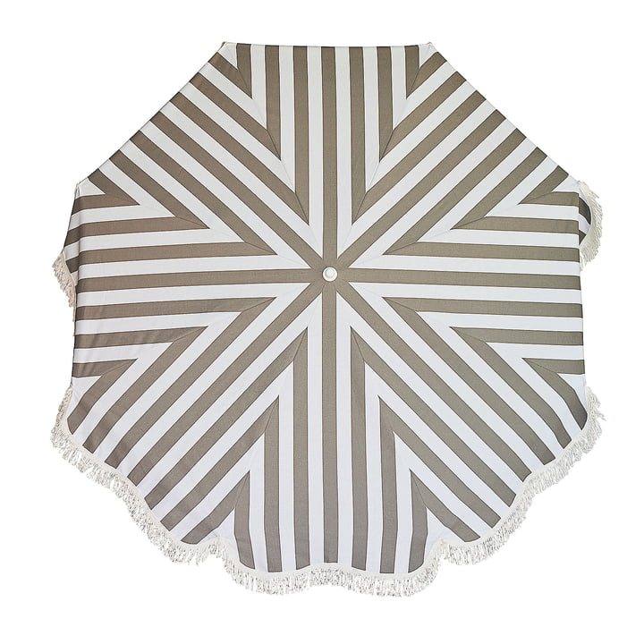 The Retro parasol Ø 200 cm from Jan Kurtz , white / taupe