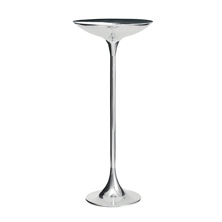 The PING II table from Driade , polished aluminium