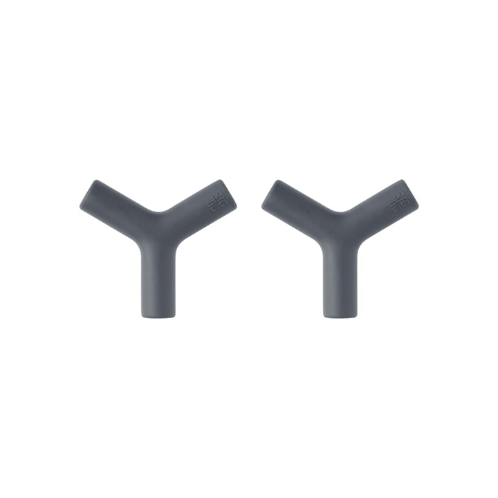 The Hang-It wall hooks from Rig-Tig by Stelton , dark grey (set of 2)
