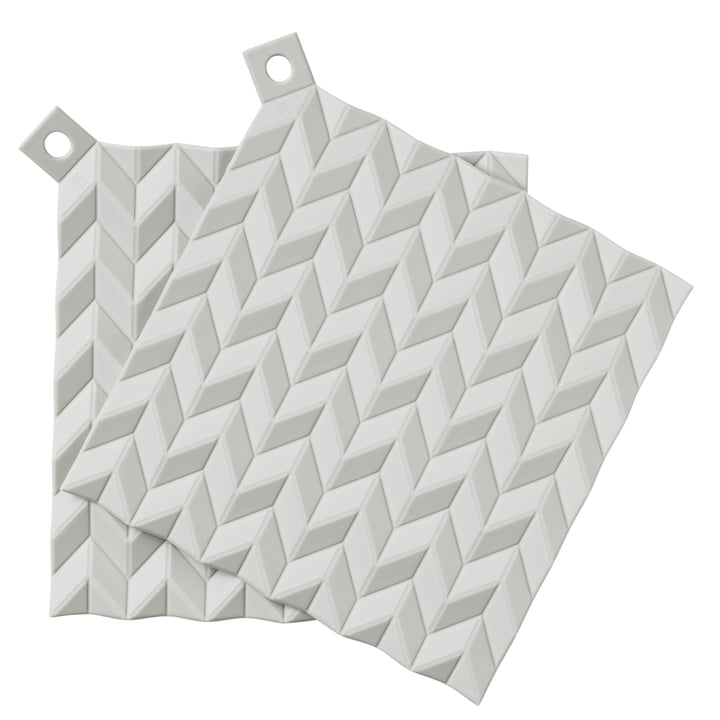 The Hold-On potholders from Rig-Tig by Stelton , (set of 2), light grey
