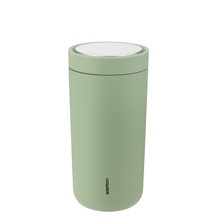 The To Go Click mug from Stelton , 0.4 l, double-walled, soft seagrass