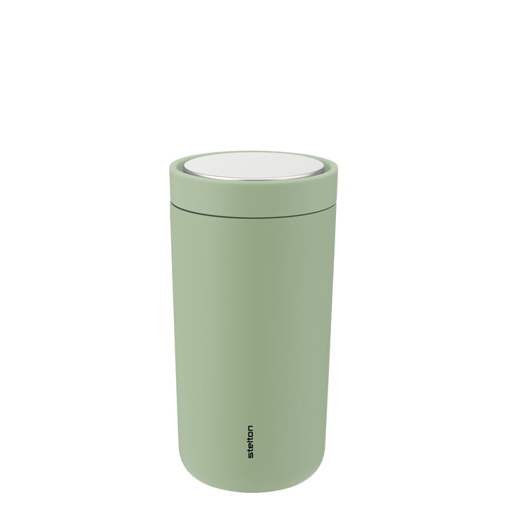 The To Go Click Mug from Stelton , 0,2 l, double-walled, soft seagrass