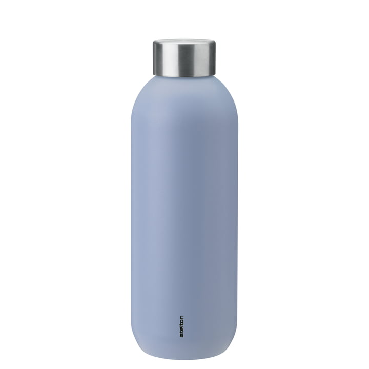 The Keep Cool drinking bottle from Stelton , 0,6 l, lupin / steel