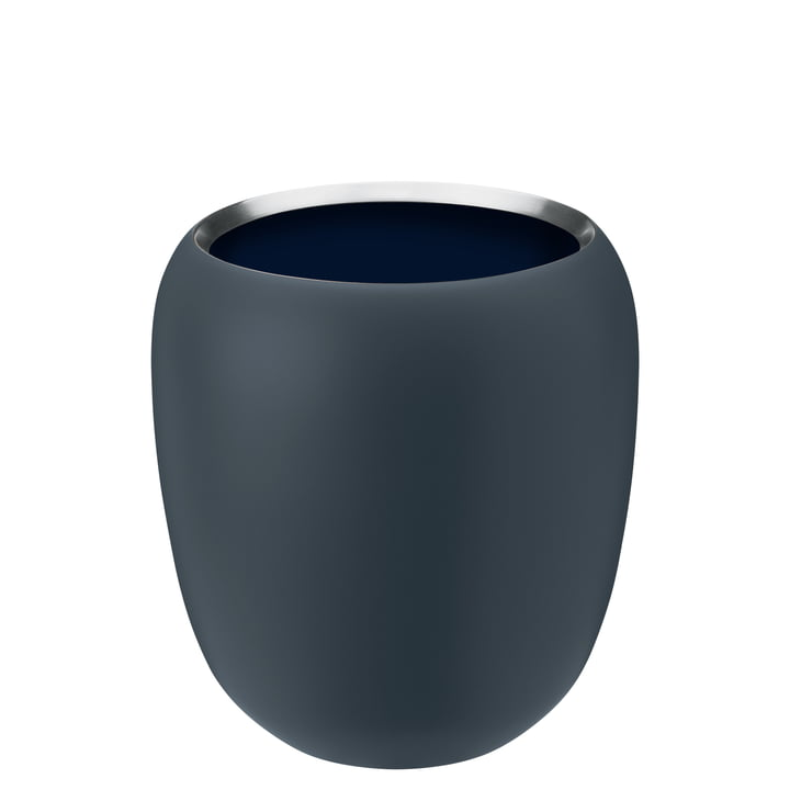 The Ora vase small from Stelton , dusty blue / midnight blue