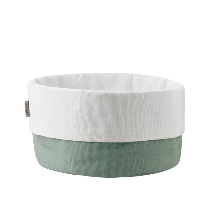 The bread bag large from Stelton , dusty green / white