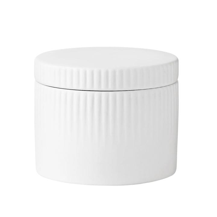 The Pleat salt pot from Stelton in white