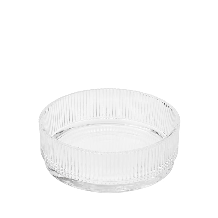 The Pilastro serving bowl from Stelton , small / transparent