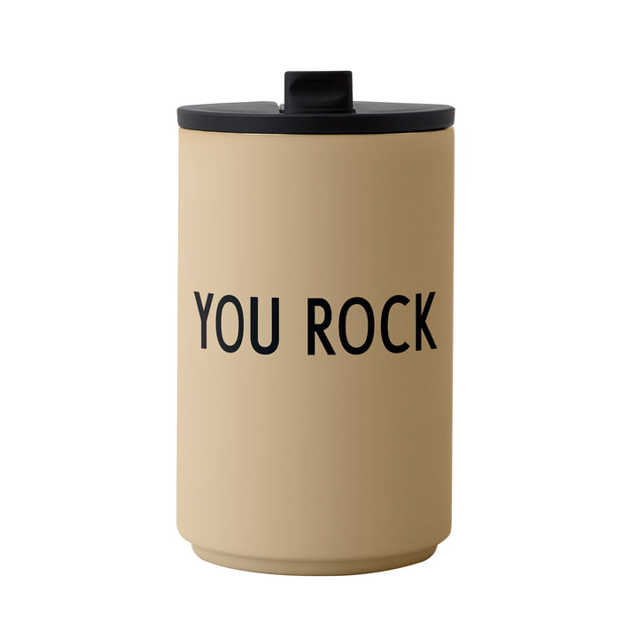 The Thermo Cup of Design Letters , 0.35 l, You Rock, beige