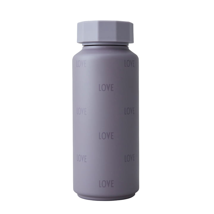 The AJ thermos flask Hot & Cold from Design Letters , 0,5 l, Love / dusty purple (special edition)