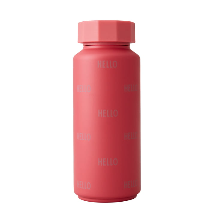 The AJ thermos flask Hot & Cold from Design Letters , 0,5 l, Hello / red berry (special edition)