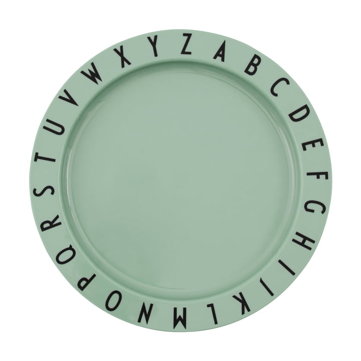 The Eat & Learn Tritan plate from Design Letters in green