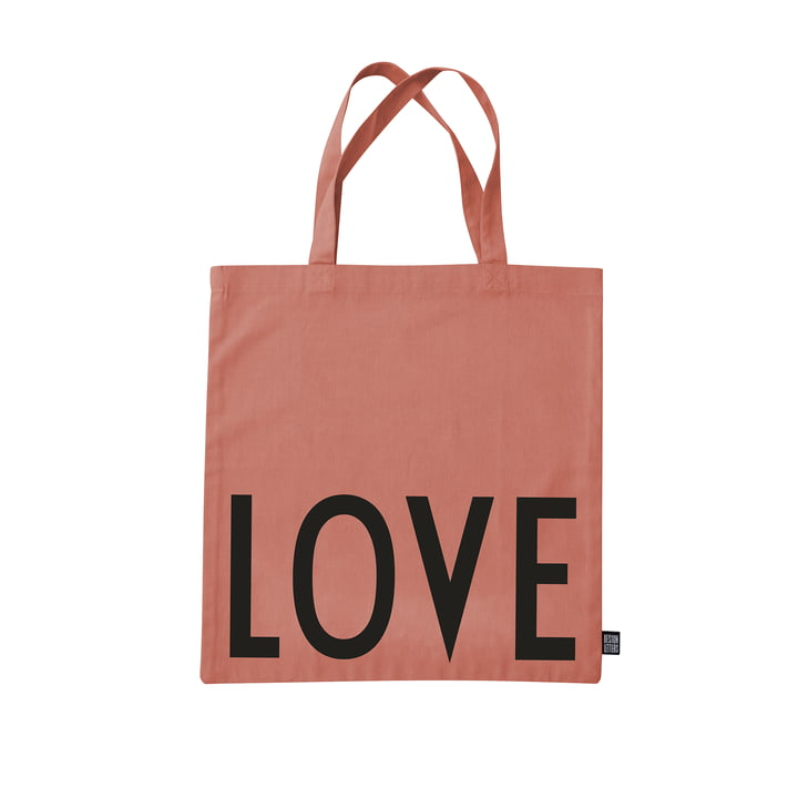 The AJ Favourite tote bag from Design Letters , Love / rasberry