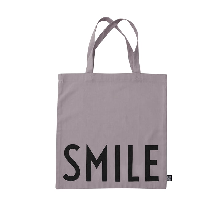 The AJ Favourite tote bag from Design Letters , Smile / dusty purple