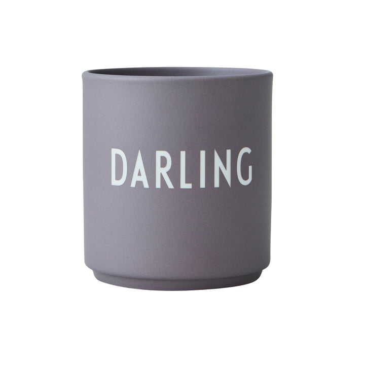 The AJ Favourite porcelain mug from Design Letters , Darling / dusty purple
