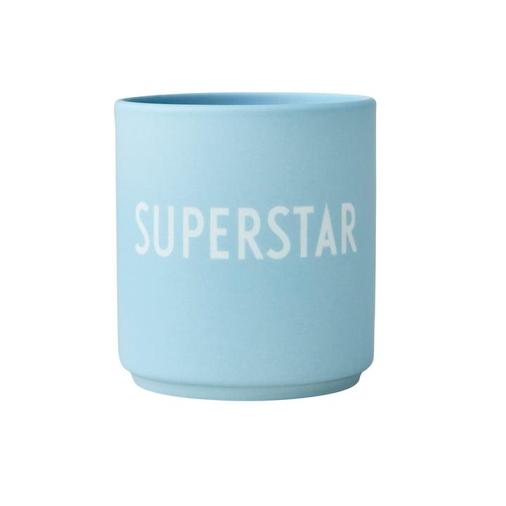 The AJ Favourite porcelain mug from Design Letters , Superstar / soft blue