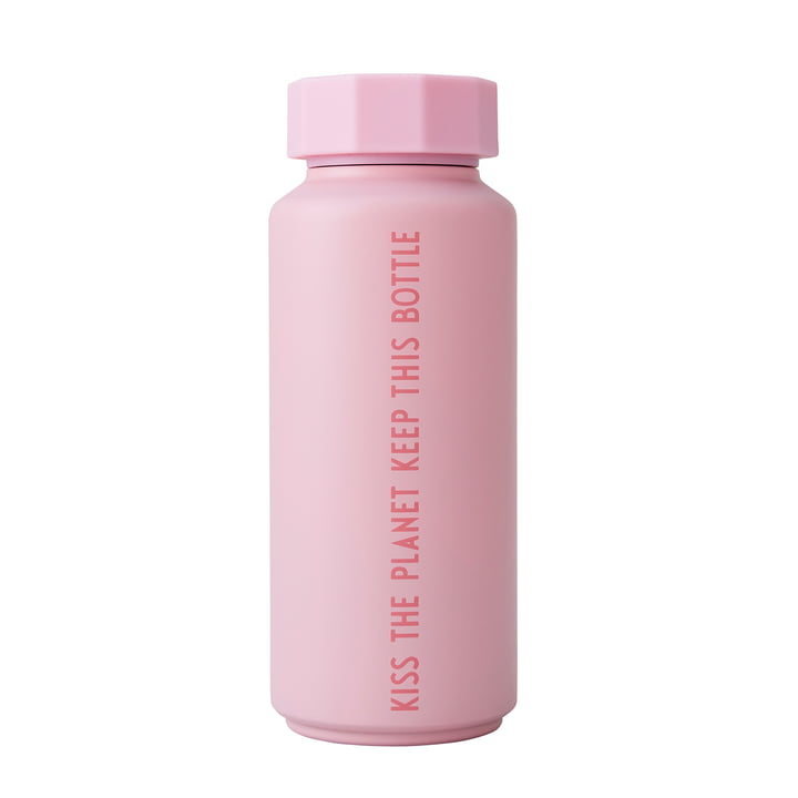 The AJ thermos flask Hot & Cold from Design Letters , 0,5 l, To Go To Stay To Keep Forever / pink (special edition)