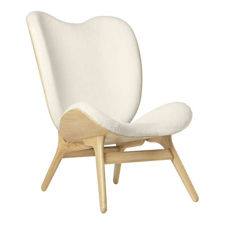 The A Conversation Piece Tall armchair from Umage , oak / teddy white