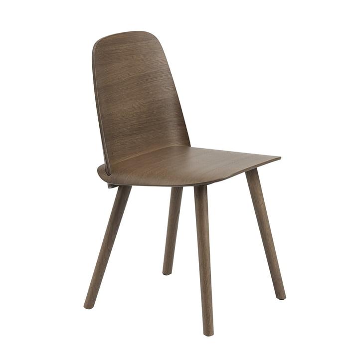 The Nerd Chair from Muuto in dark brown