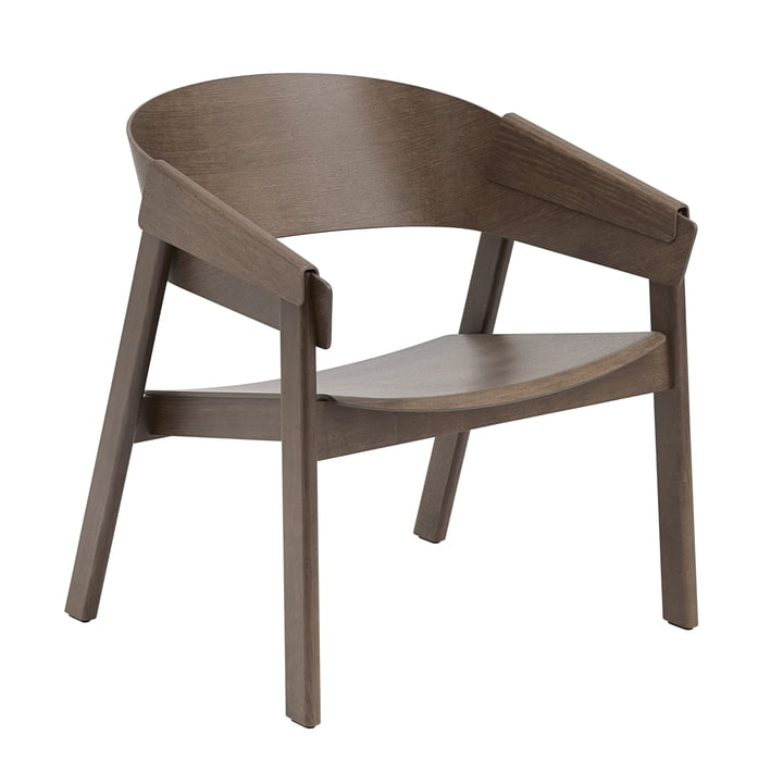 The Cover Lounge Chair from Muuto , dark brown