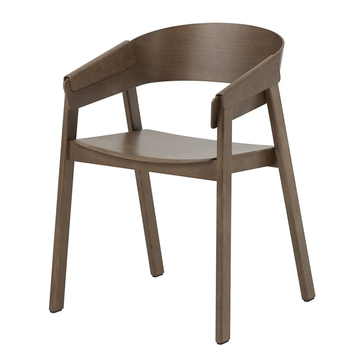 The Cover Armchair from Muuto in dark brown
