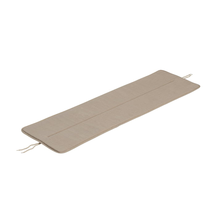 The seat cushion for Linear Steel bench from Muuto , L 110 cm, warm beige