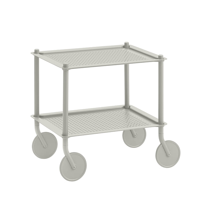 The Flow side trolley from Muuto , 2 shelves, grey