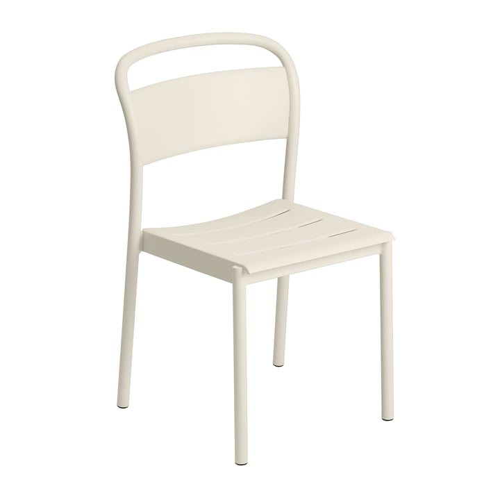 The Linear Steel Side Chair of Muuto , off-white