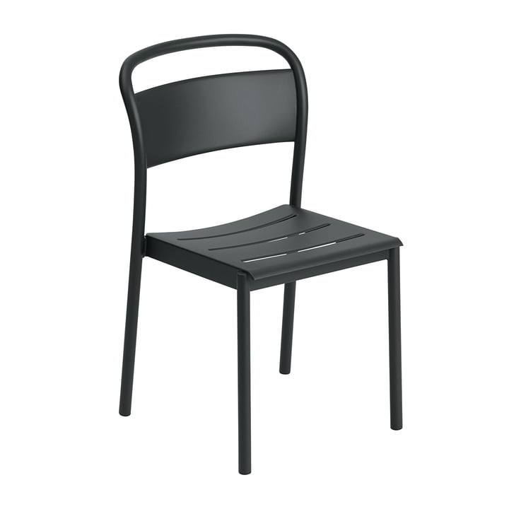 The Linear Steel Side Chair from Muuto , black