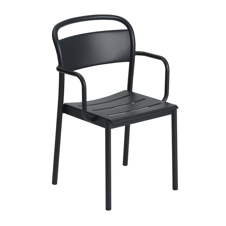 The Linear Steel Armchair from Muuto , black