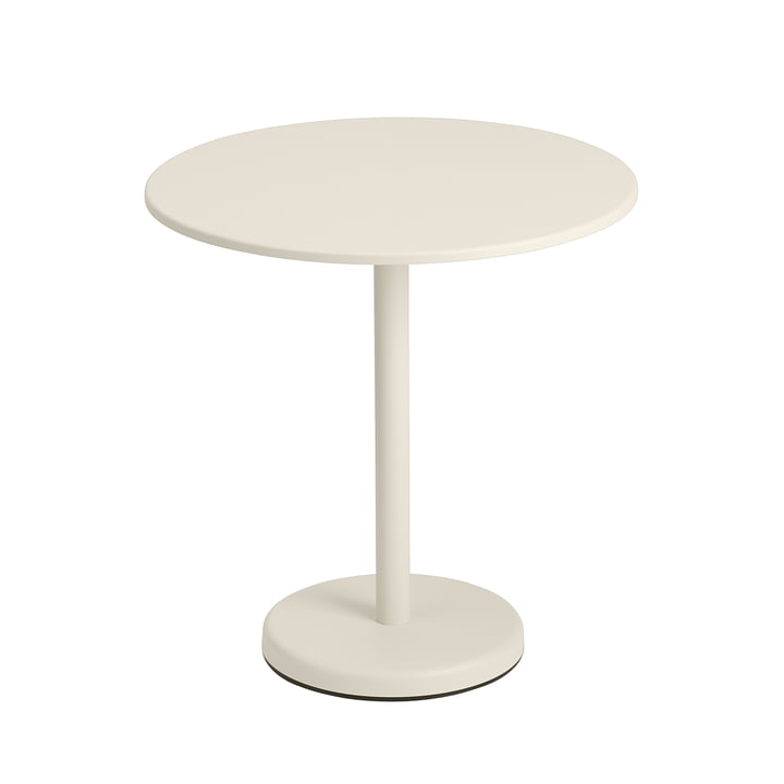 The Linear Steel table, round from Muuto , Ø 70 cm, off-white