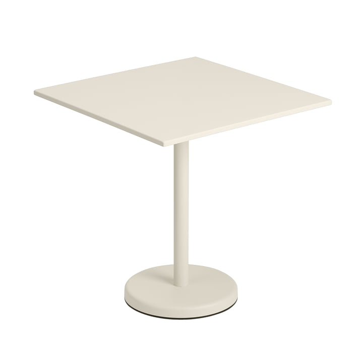 The Linear Steel table from Muuto , 70 x 70 cm, off-white