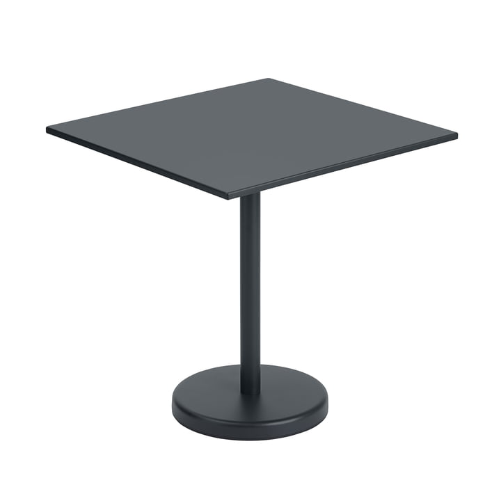 The Linear Steel table from Muuto , 70 x 70 cm, black