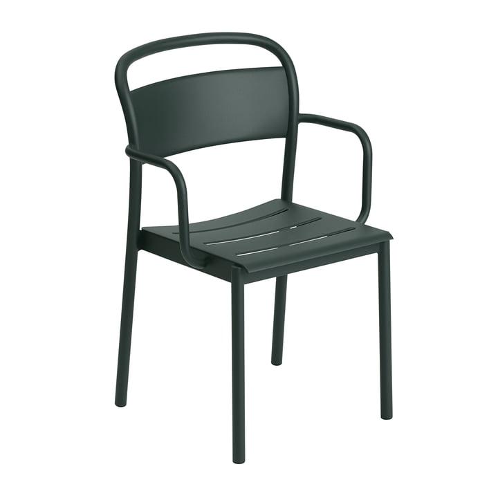 The Linear Steel Armchair from Muuto , dark green