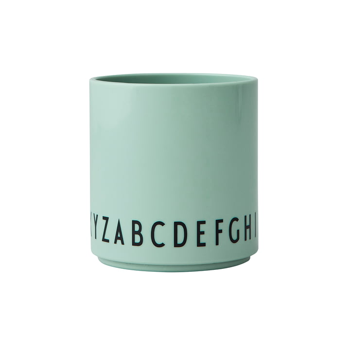 The Eat & Learn Tritan cup from Design Letters in green