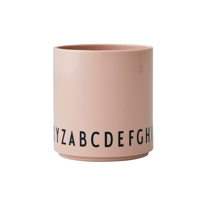 The Eat & Learn Tritan cup from Design Letters in nude