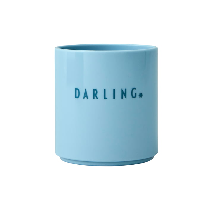 The AJ Mini Favourite Tritan cup from Design Letters , Darling / soft blue